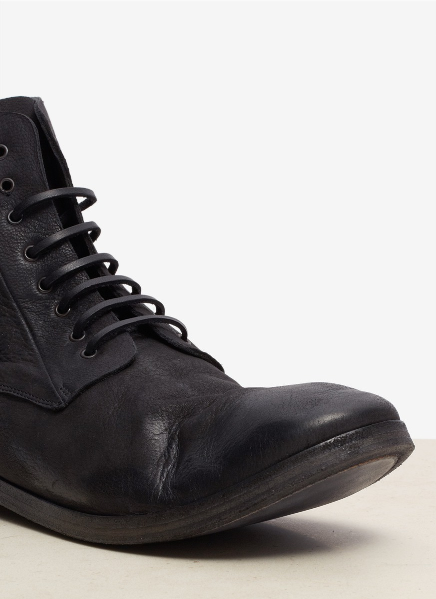 mars 232 ll leather lace up boots in black for lyst