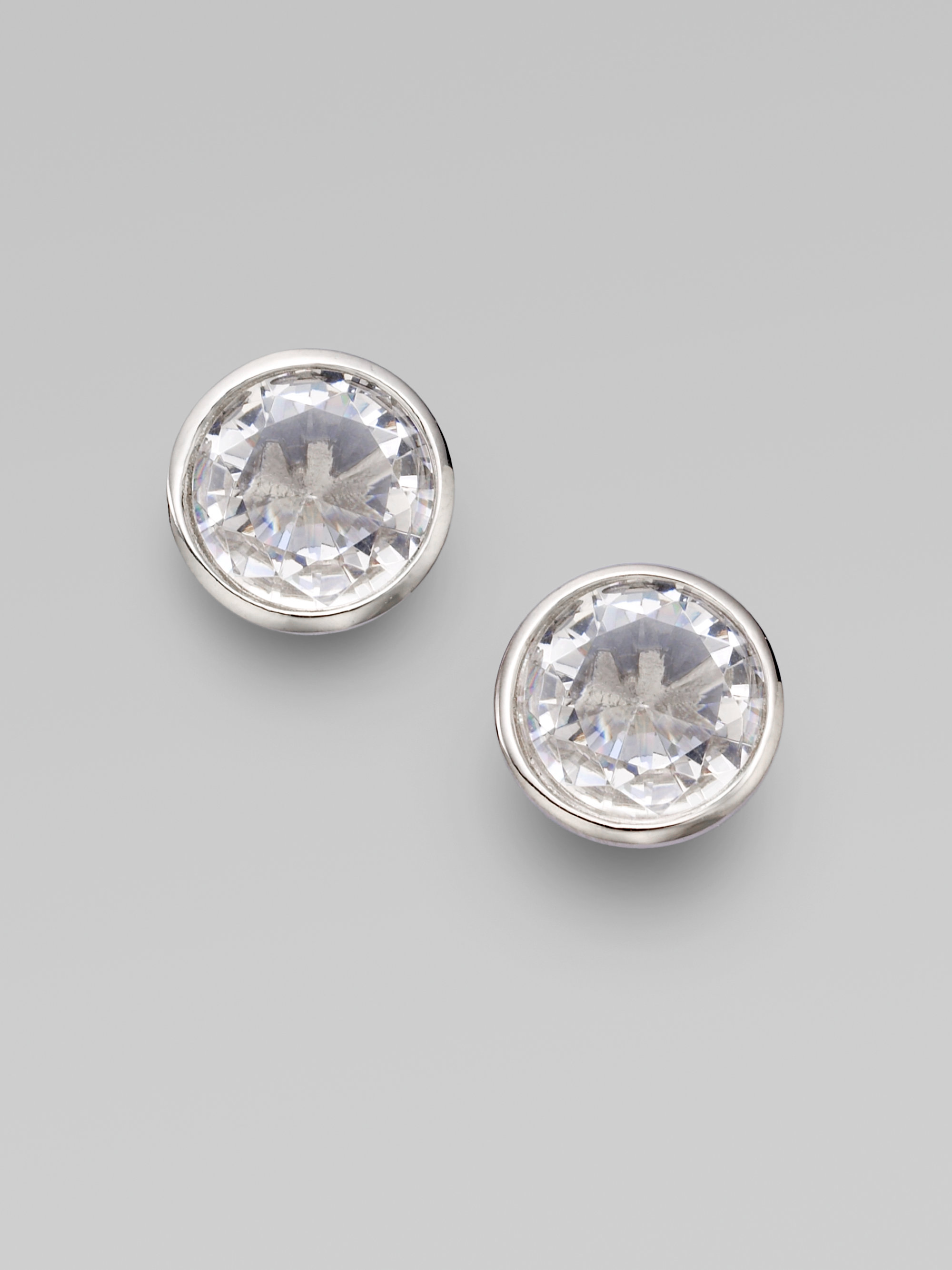 stud emporio p context large armani beaverbrooks silver crystal earrings