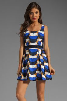 Milly Dress on Milly Scallop Print Isabelle Short Dress In Cobalt   Lyst