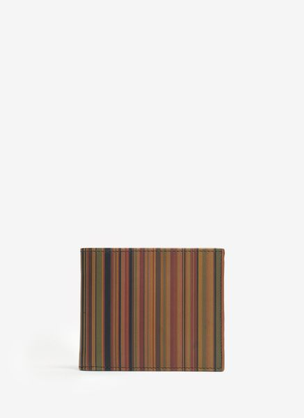 Paul Smith Multistriped Leather Billfold Wallet in Multicolor for Men (multi)