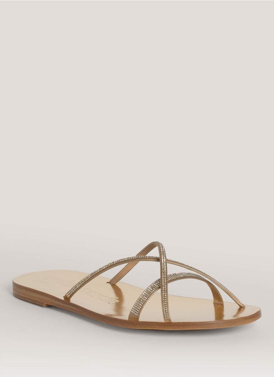 Pedro Garcia Crystal embellished strappy sandals