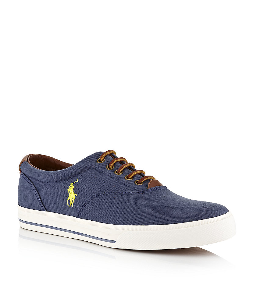 polo ralph vaughn oxford shoe in blue for lyst