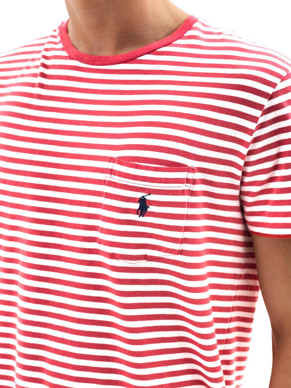 15d8173548 Ralph Lauren Navy Striped T Shirt