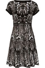 Roberto Cavalli Animalprint Jacquardknit Dress