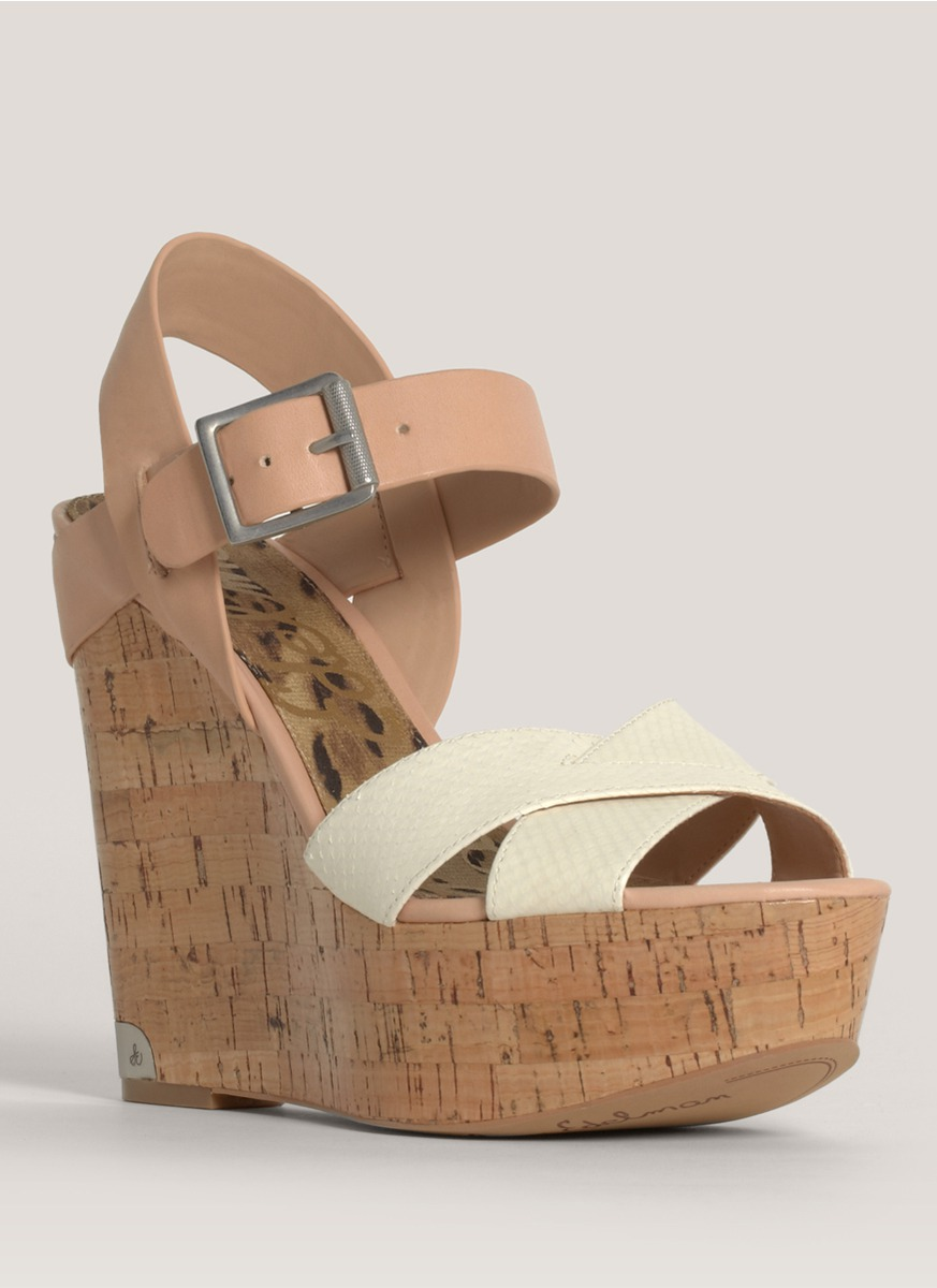 7aefe63186670 Lyst - Sam Edelman Sasha Cork-wedge Sandals in Natural