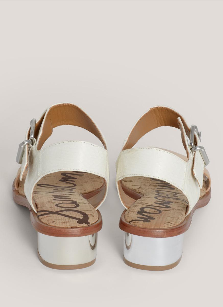 abeccf5a8 Lyst - Sam Edelman Trina Strapped Leather Sandals in White