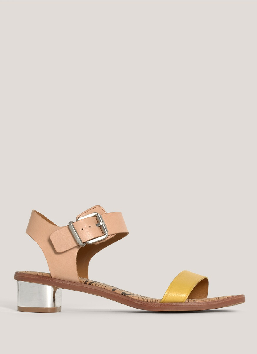 3d3cb9f39 Lyst - Sam Edelman Trina Strapped Leather Sandals in Yellow