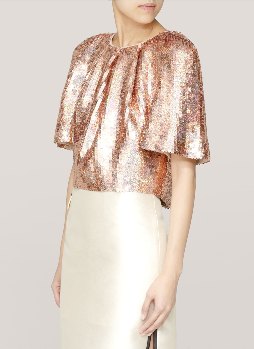 Stella McCartney sequin top Outlet Pay With Visa Ebay Browse Cheap Price Discount Cheap Price FgcddPU2V