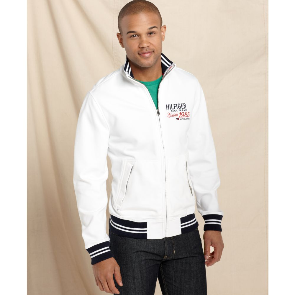 Tommy hilfiger Topeka Full Zipper Sweater Jacket in White for Men ...