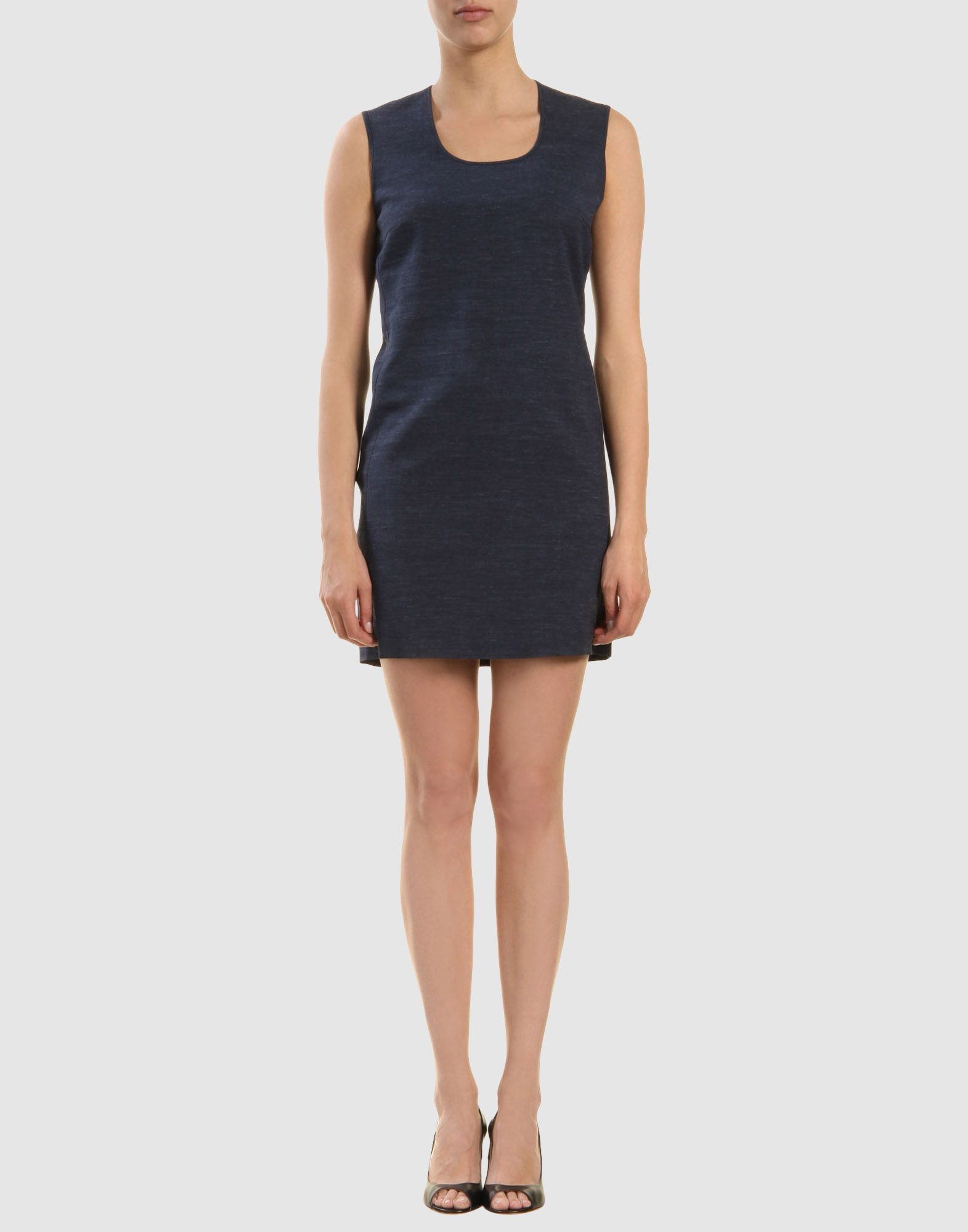 calvin klein dress in black blue lyst