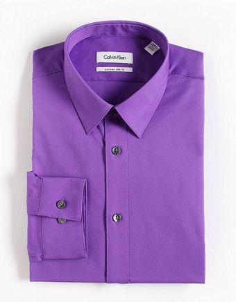 Calvin Klein Slimfit Dress Shirt - Lyst