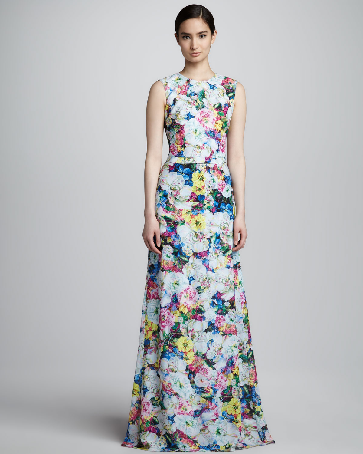 Flower Dress: Erdem Long Floralprint Dress