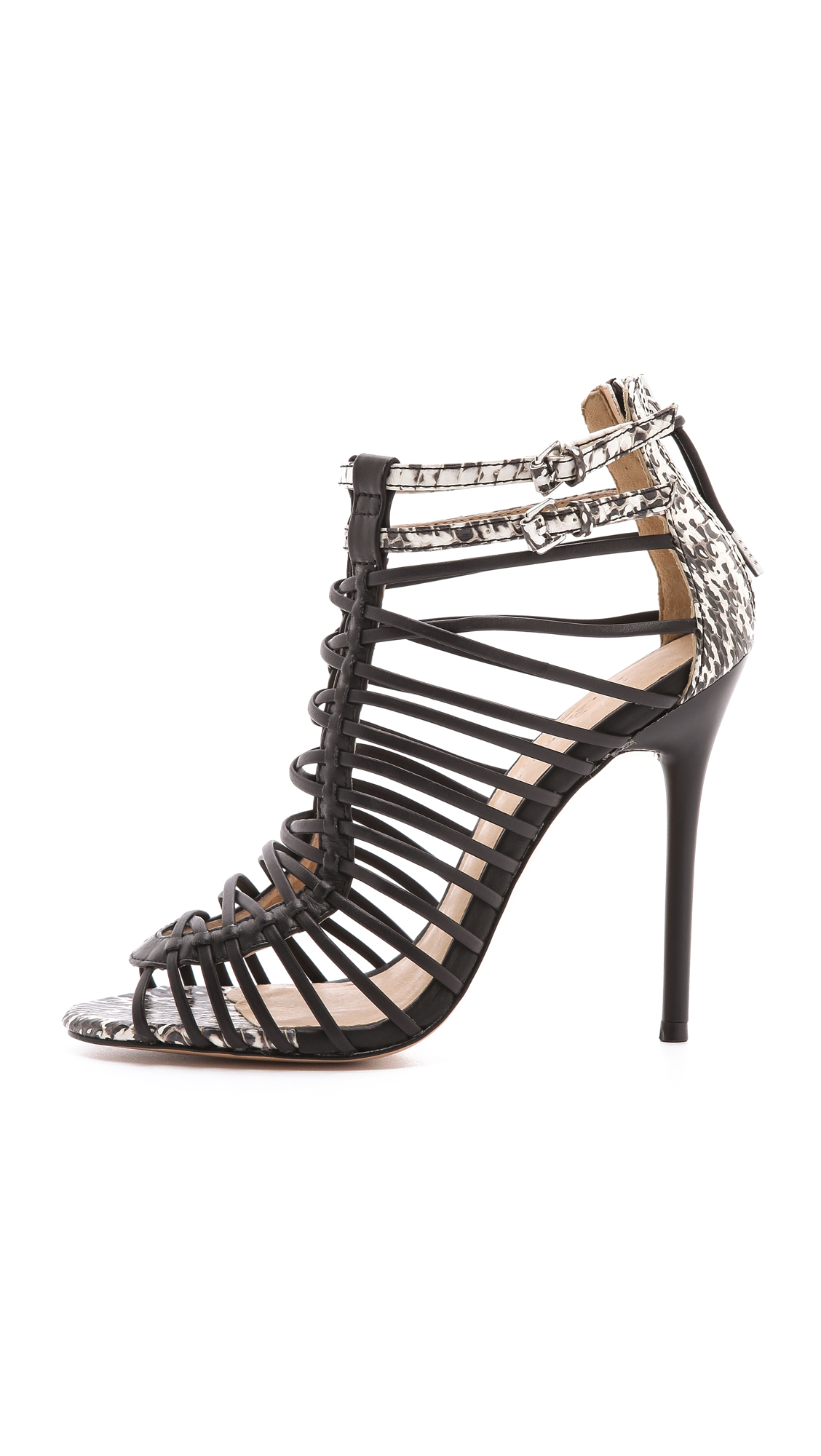 L.a.m.b. Payton Strappy High Heel Sandals in Black   Lyst