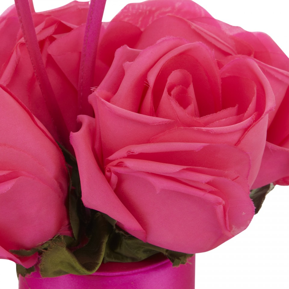 Lyst Lulu Guinness Shocking Pink Flower Cylinder In Pink