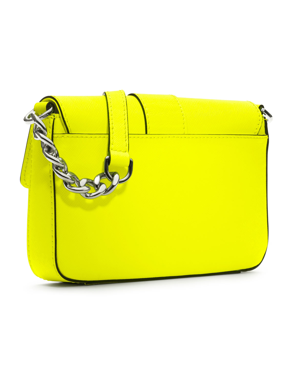 a0b749dd48a8 ... authentic lyst michael michael kors small fulton saffiano messenger in  yellow 5038d 09c0b