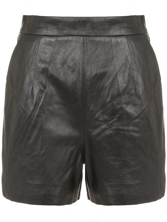 Milly Kelsey Leather Shorts - Lyst