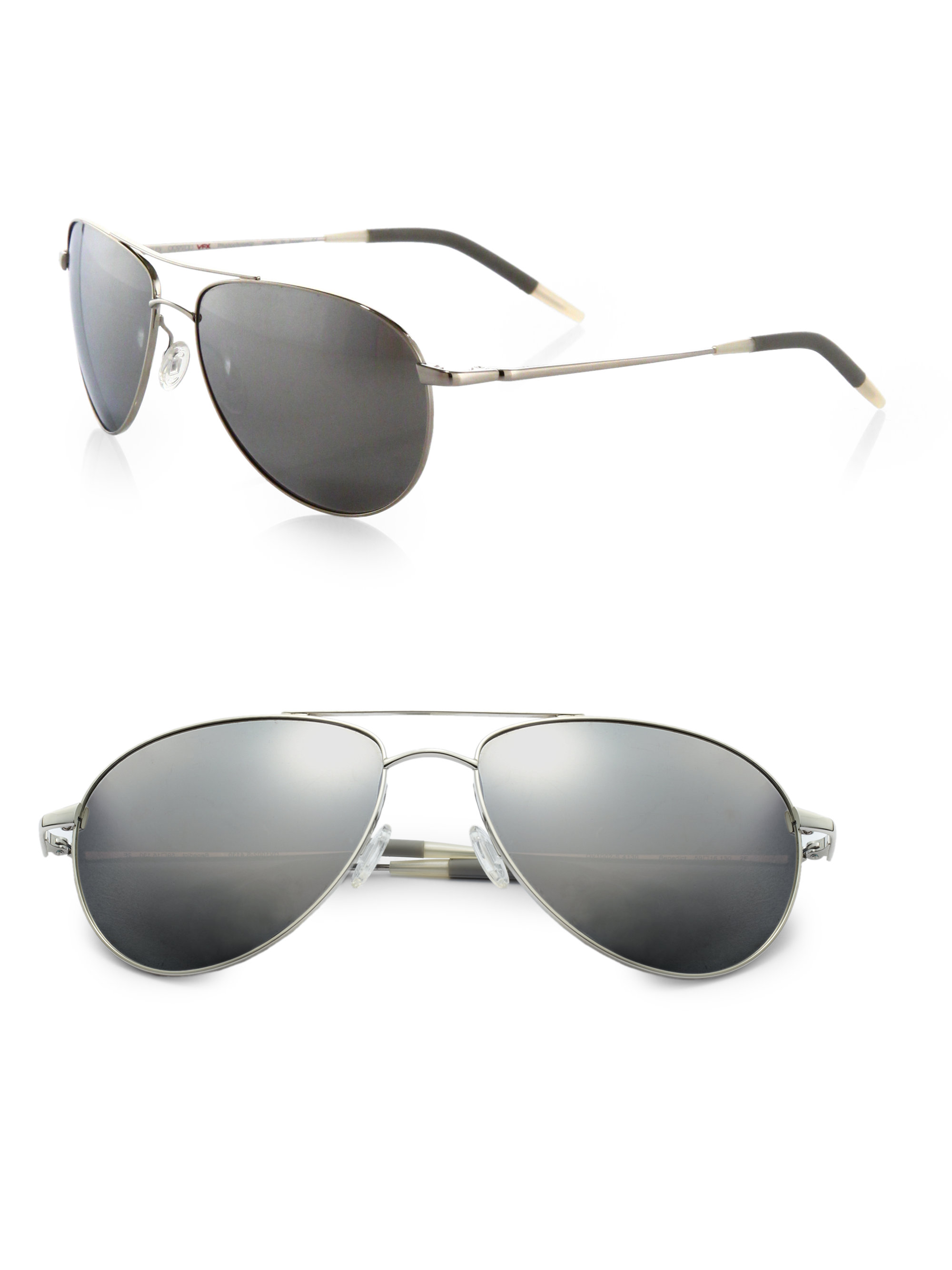 e273bc55daf Lyst - Oliver Peoples Benedict Aviator Sunglasses in Black for Men
