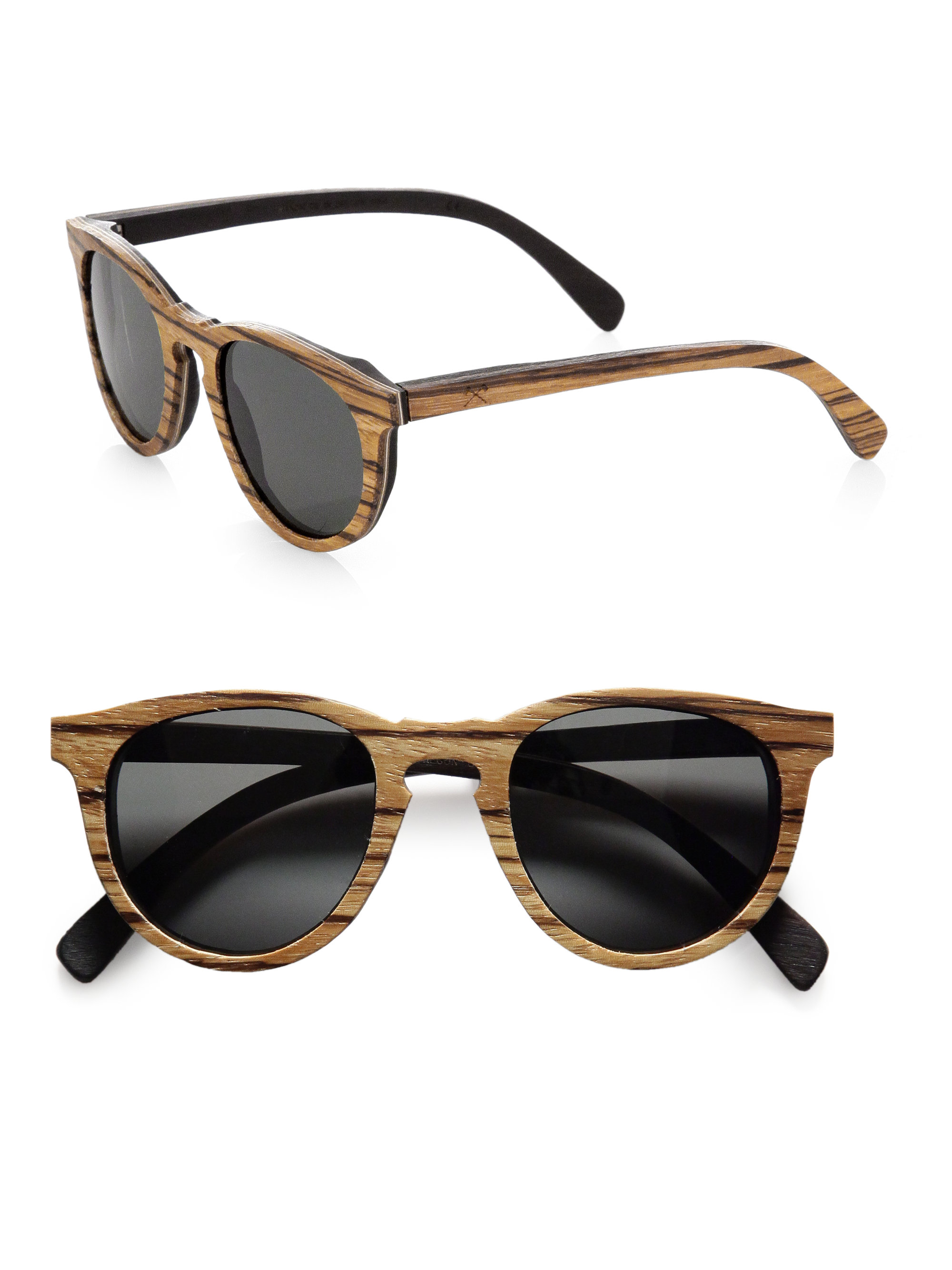 Keyhole Sunglasses  shwood belmont wood keyhole sunglasses in brown for men lyst