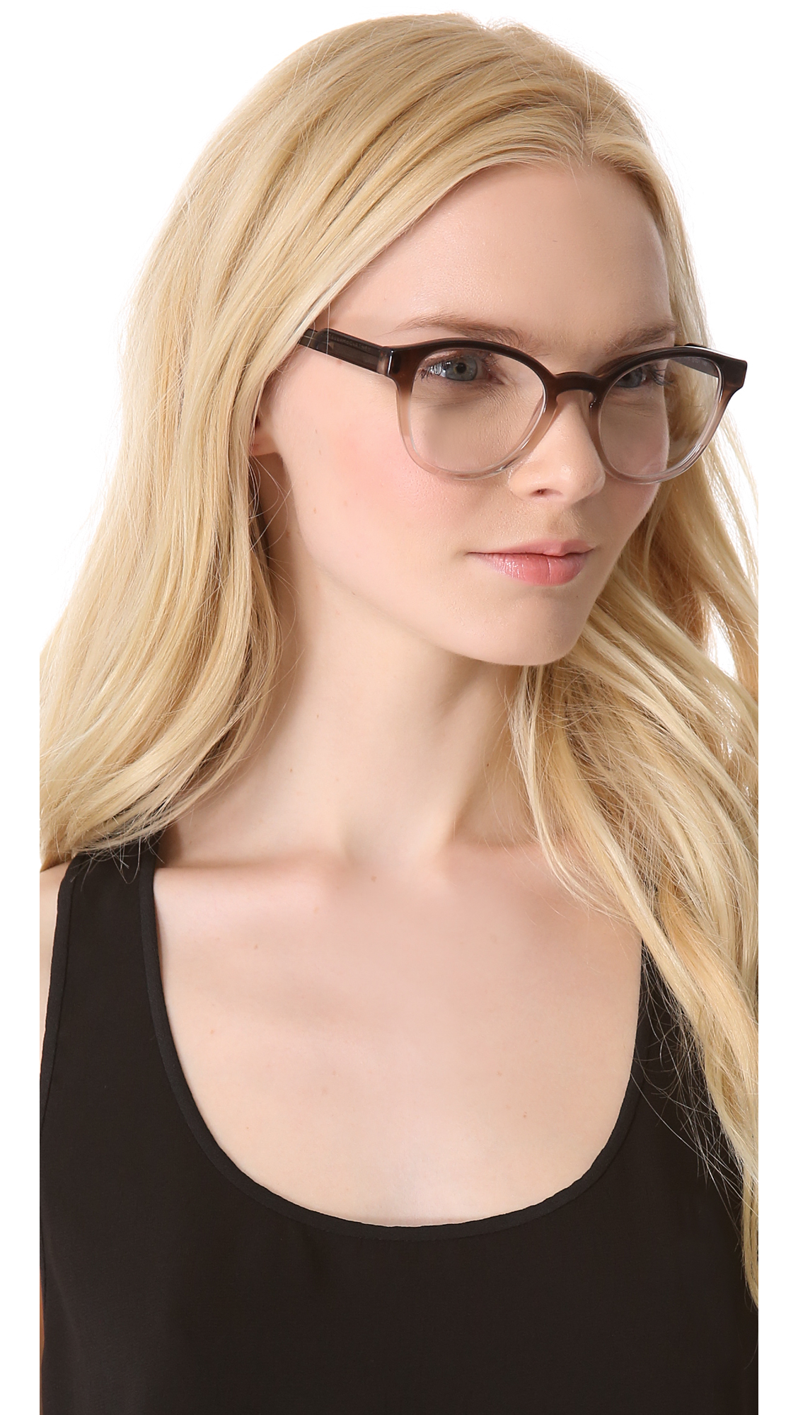 Lyst Stella Mccartney Rounded Glasses Taupe Gradient