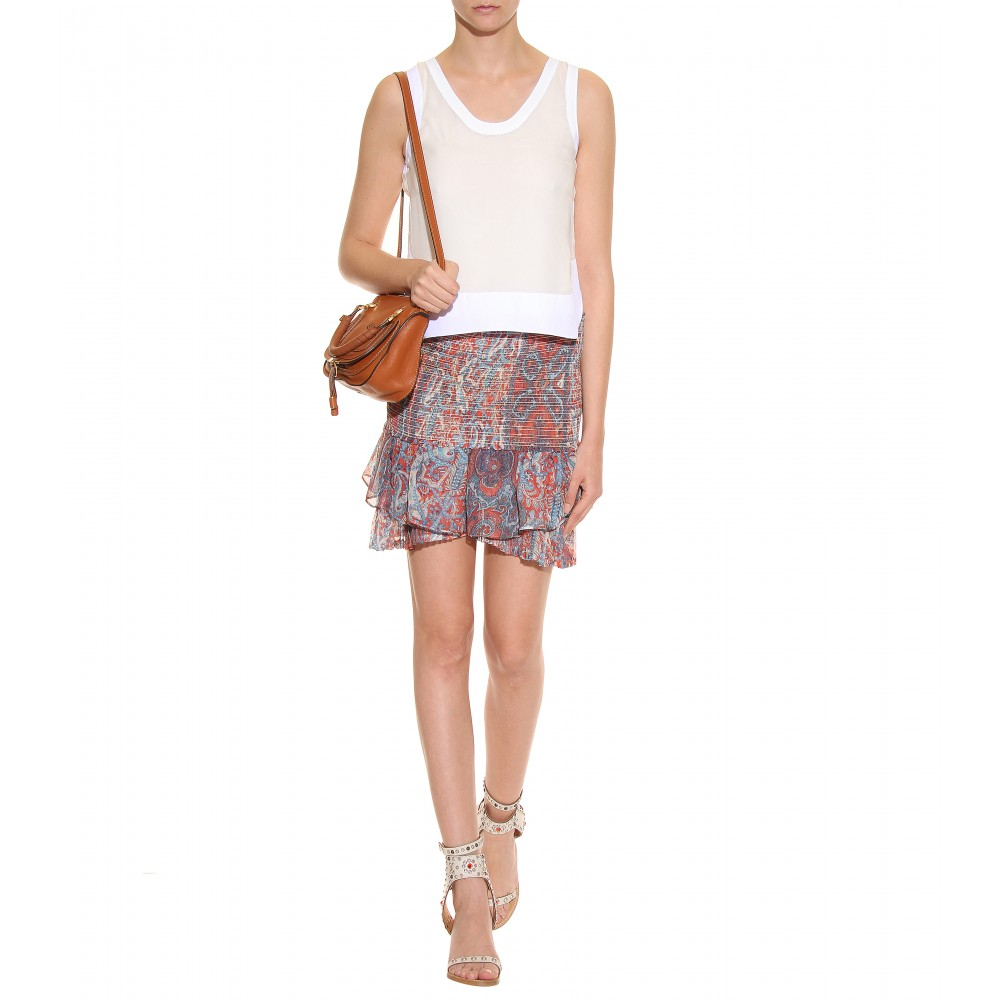 Chlo¨¦ Baby Marcie Leather Handbag in Brown (tan) | Lyst