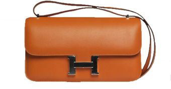 Hermes 25cm Orange Swift Constance Elan with Palladium - Lyst