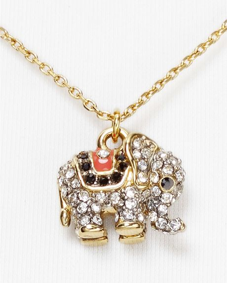 Juicy Couture Elephant Necklace 16 in Gold | Lyst