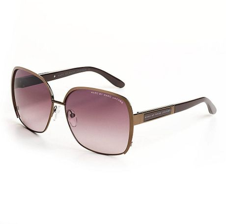 Marc By Marc Jacobs Combo Retro Frame Sunglasses in Brown ...