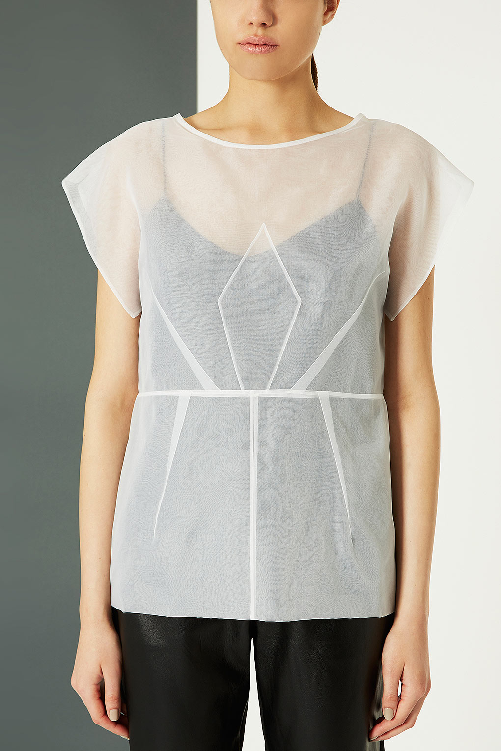 f21be6a5b891f9 TOPSHOP Organza Origami Top in White - Lyst