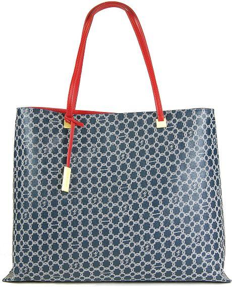 Ivanka Trump Julia Shopper Tote Bag in Blue (red)