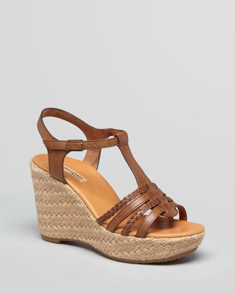 paul green espadrille platform wedge sandals leslie in