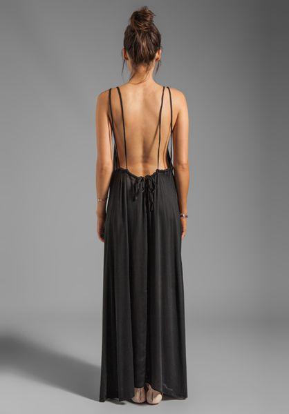 Acacia Swimwear Hana Backless Maxi Dress In Black In Black