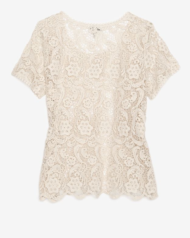 Joie Crochet Cotton Lace Top in White | Lyst