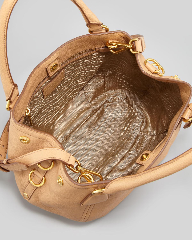 Prada Daino Medium Shoulder Tote Bag In Natural Lyst