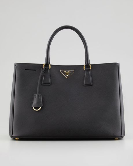 Prada Saffiano Gardeners Tote Bag in Black