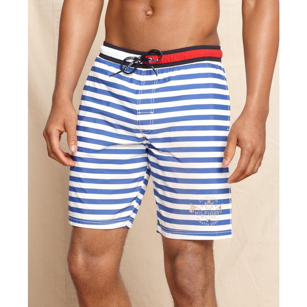 35ecc6a7 Tommy Hilfiger Bar Stripe Swim Trunks in Blue for Men - Lyst