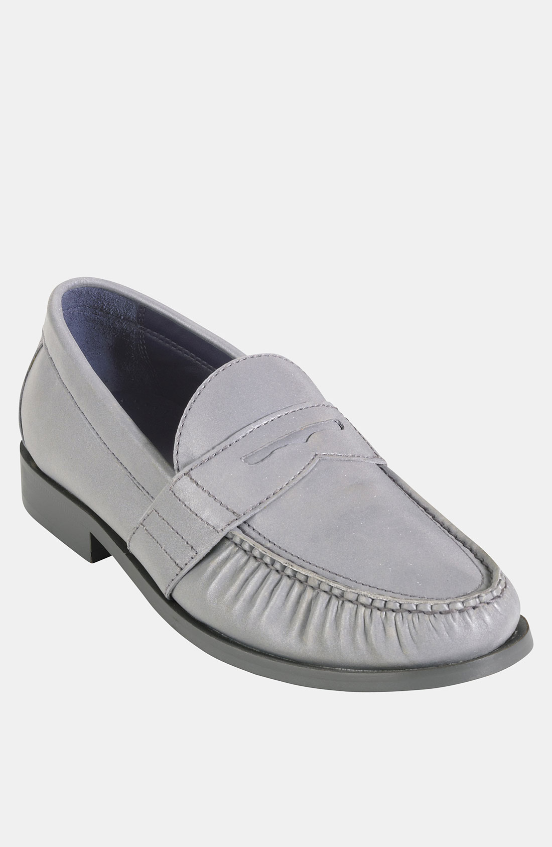 cole haan air monroe penny loafer in silver for men silver reflective lyst. Black Bedroom Furniture Sets. Home Design Ideas