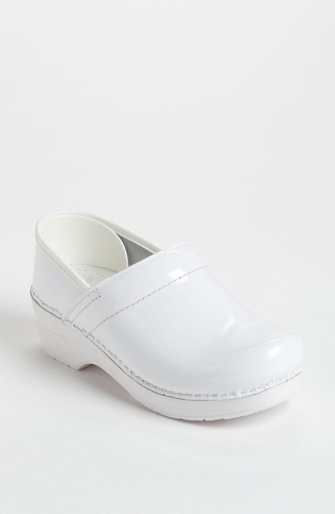 Dansko Professional Clog In White White Patent Lyst