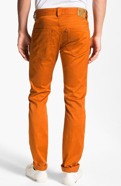Creative 10 Crosby Derek Lam Pants Skinny Cargo In Orange Burnt Sienna  Lyst