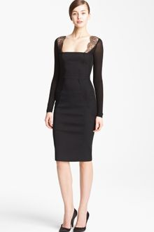 Black Jersey Dress on Donna Karan New York Collection Illusion Jersey Dress   Lyst