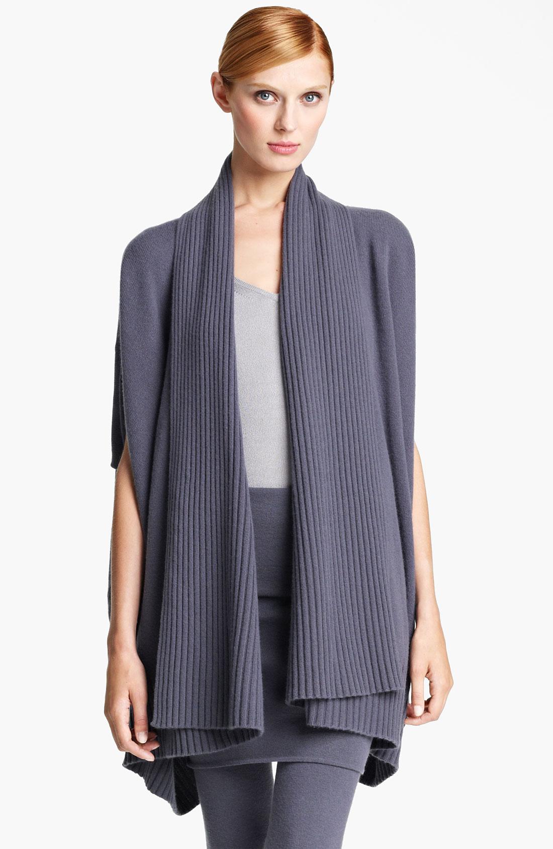 donna karan new york collection draped cashmere cardigan. Black Bedroom Furniture Sets. Home Design Ideas