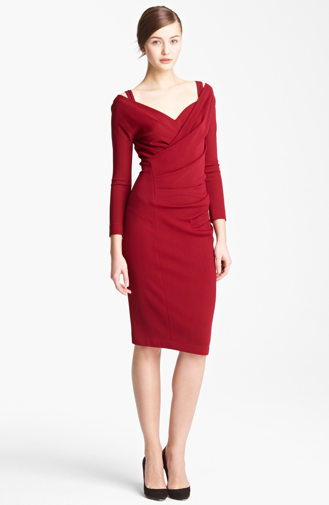 Donna karan new york collection draped crepe jersey dress for Donna karen new york