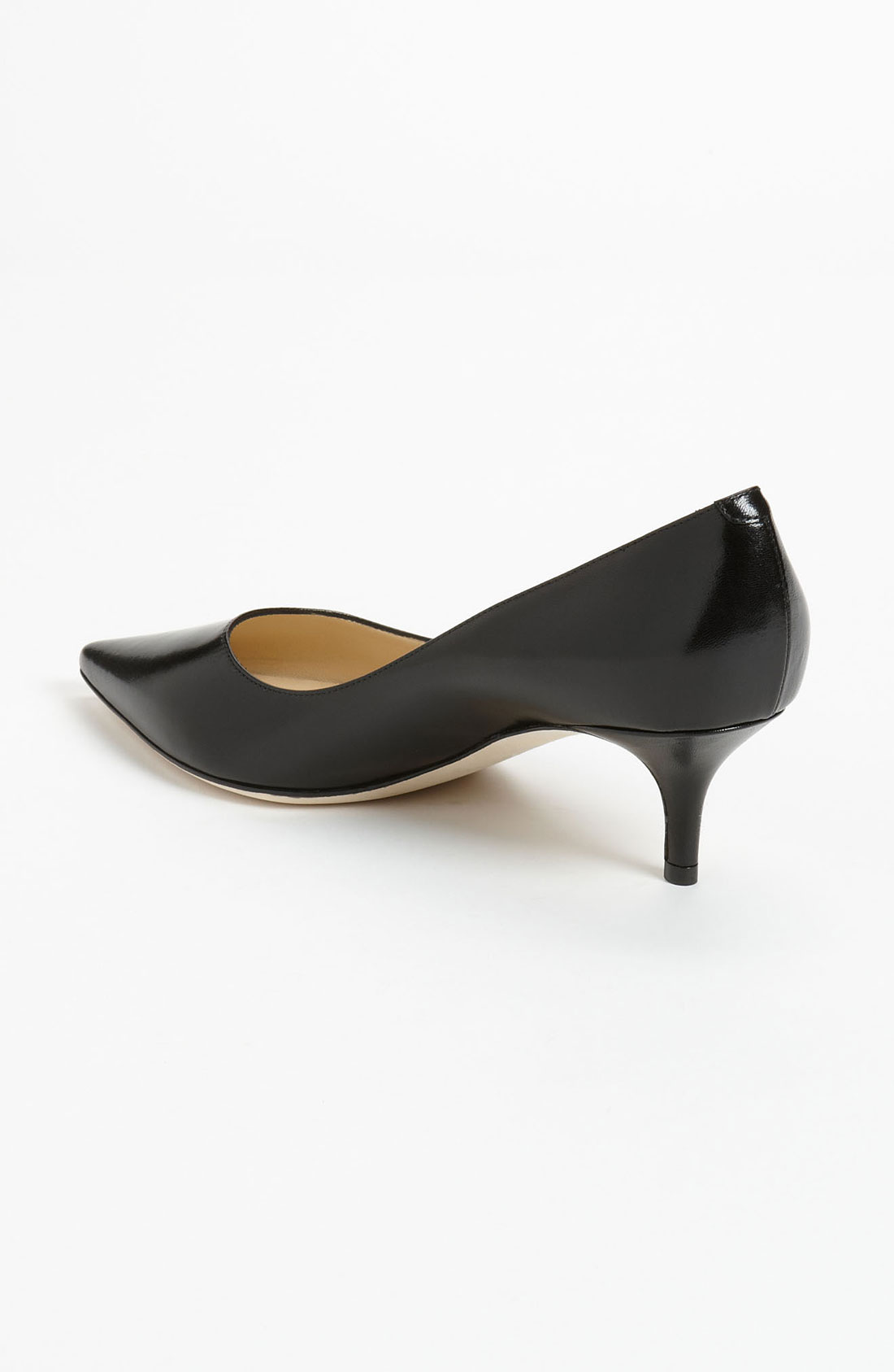 Black Open Toe Kitten Heels