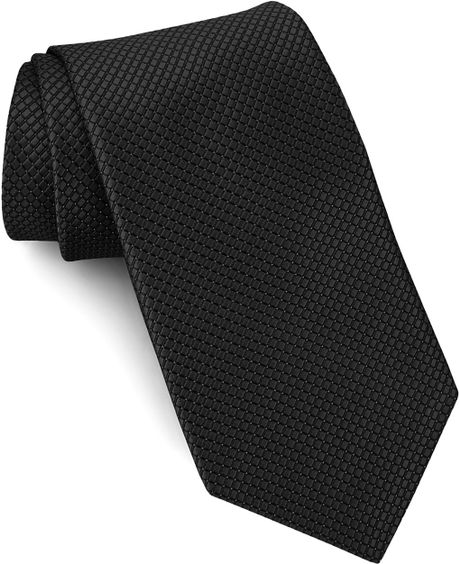 w nordstrom 174 woven silk tie in black for lyst