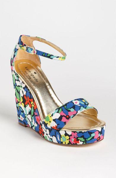 Kate Spade Dabney Wedge Sandal In Multicolor Margarita