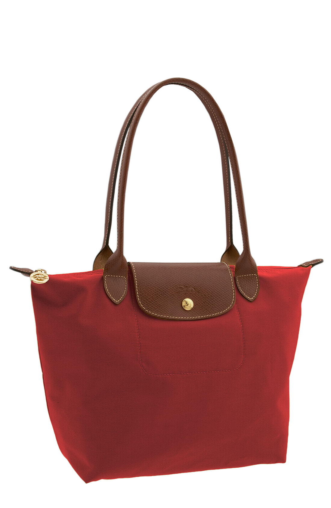 Longchamp Bag Le Pliage Colours : Longchamp red le pliage medium shoulder tote lyst