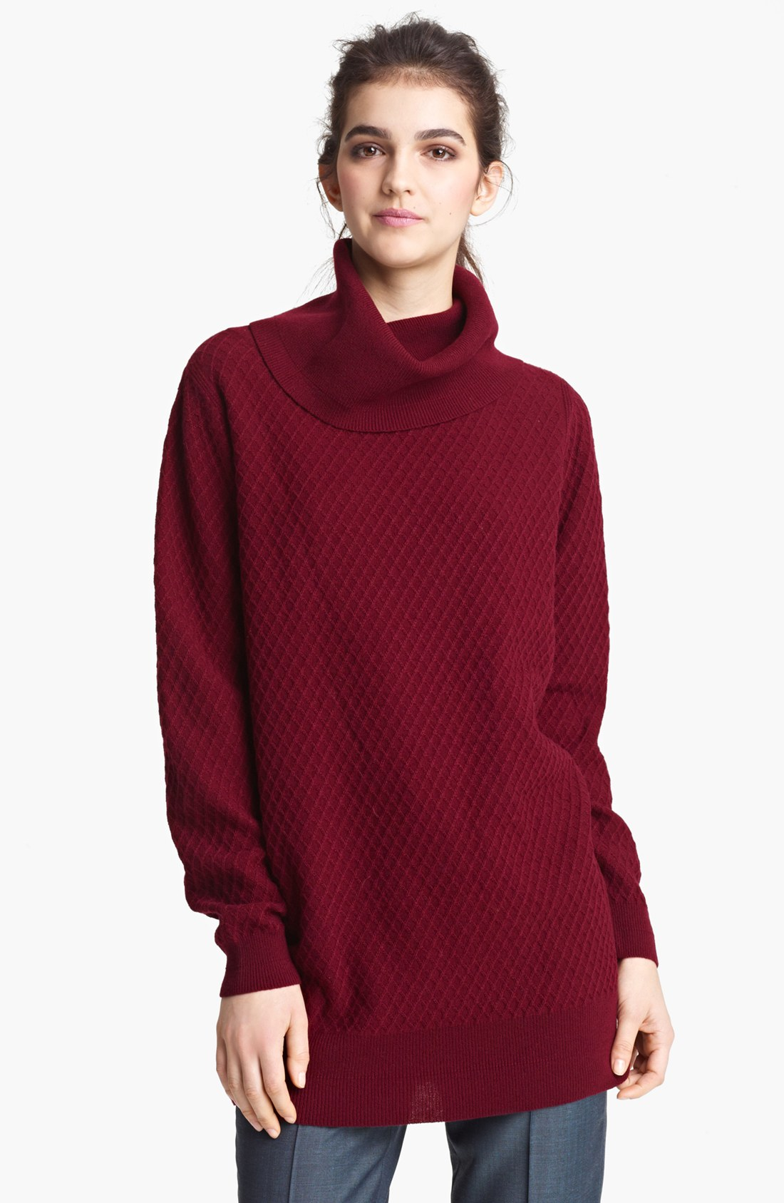 Marc jacobs Oversized Turtleneck Sweater in Red | Lyst