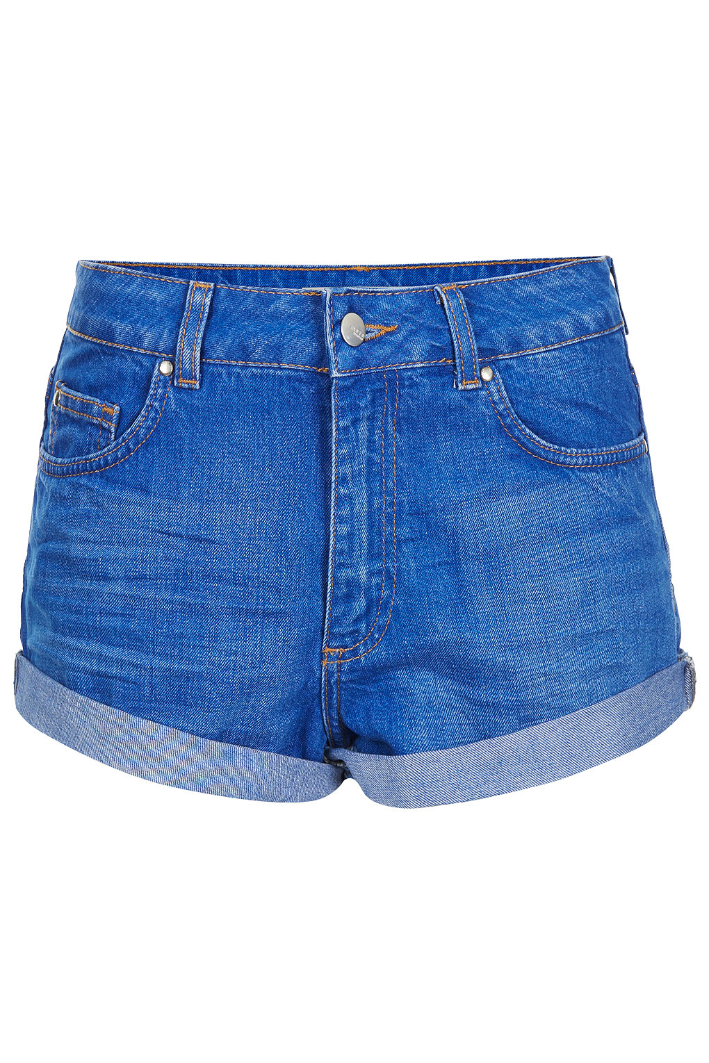 Topshop High Waisted Denim Shorts in Blue | Lyst
