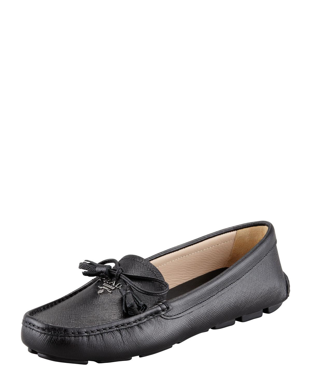 8f96d5953a3 sweden lyst prada saffiano tassel logo driver black in black for men 20270  7eb01