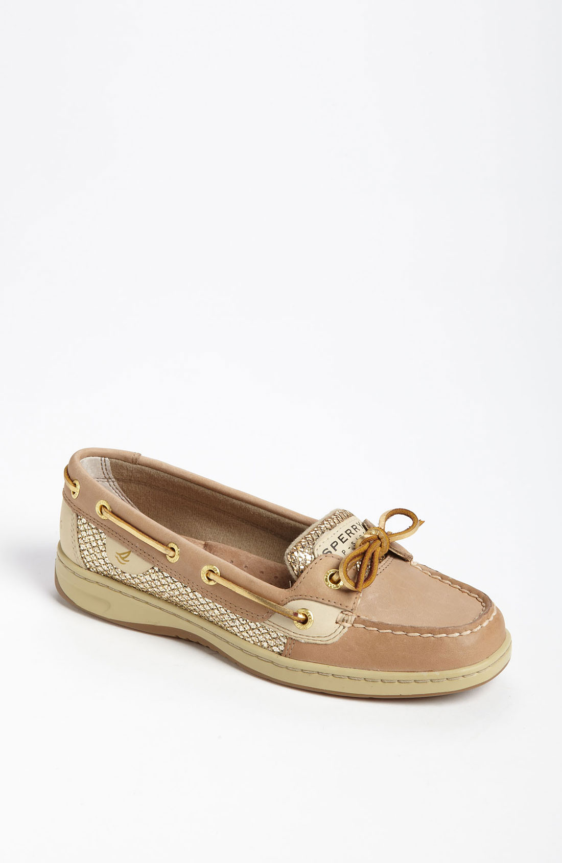 Lyst sperry top sider angel fish boat shoe in metallic for Best boat shoes for fishing