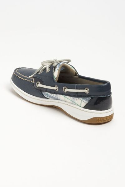 Top-sider Bluefish 2eye Boat Shoe Women in Gray (navy plaid sequin